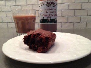 brownie and perfect chocolate milk from Graze Artisanal Foods Vermont