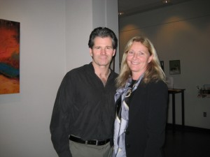 Andre Dubus at Newton Free Library with Capability Mom