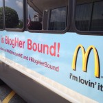 BlogHer Bound! capability mom and Boston Parent Bloggers go to NYC on the bus with McDonald's